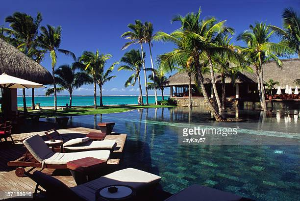 Mauritius pool and beach