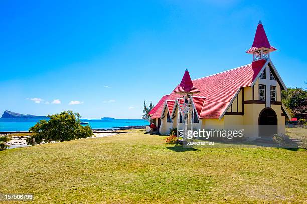 Mauritius red roof church