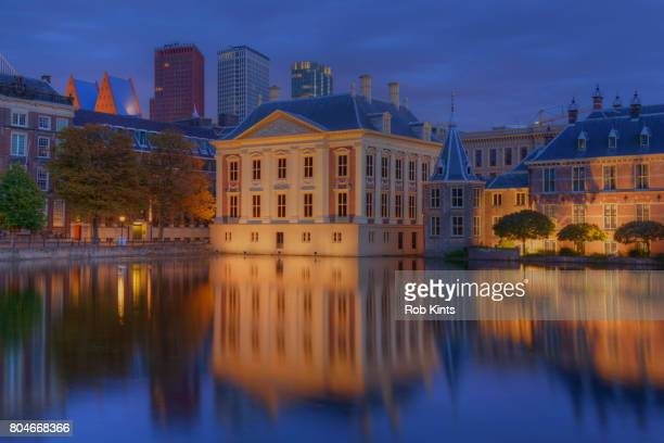Mauritshuis museum and Binnenhof THe Hague at night