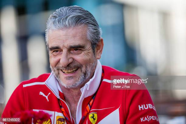 Maurizio Arrivabene of Ferrari and Italy during the Australian Formula One Grand Prix at Albert Park on March 26 2017 in Melbourne Australia