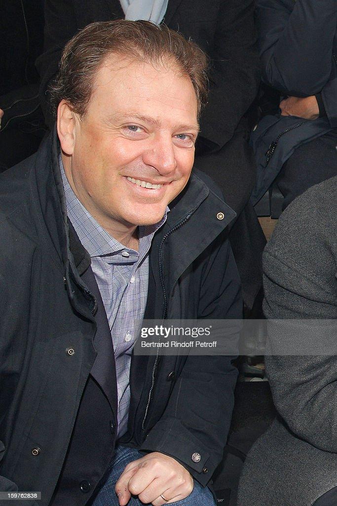 Maurizio Borletti attends the Lanvin Men Autumn / Winter 2013 show at Ecole Nationale Superieure Des Beaux-Arts as part of Paris Fashion Week on January 20, 2013 in Paris, France.