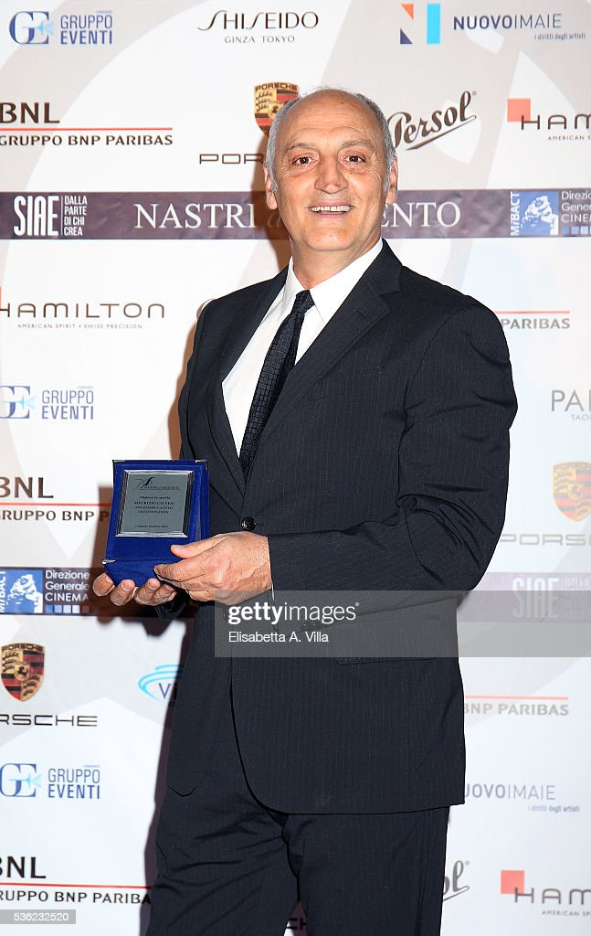 Maurizio Calvesi attends Nastri D'Argento 2016 Award Nominations at Maxxi on May 31, 2016 in Rome, Italy.