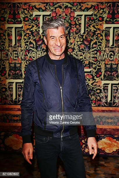 Maurizio Cattelan attend the T Celebration of Culture Issue And Milan Design Week at Palazzo Crespi on April 11 2016 in Milan Italy