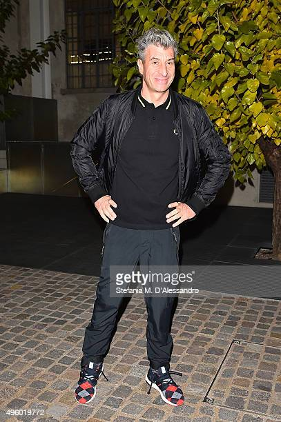 Maurizio Cattelan attends the Opening Of Gianni Piacentino's Exhibition at Fondazione Prada on November 6 2015 in Milan Italy
