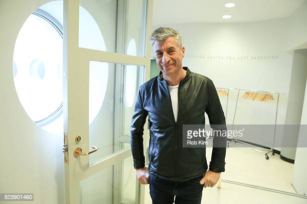 Maurizio Cattelan attends the screening for 'Maurizio Cattelan Be Right Back' during the 2016 Tribeca Film Festival at Guggenheim Museum on April 24...