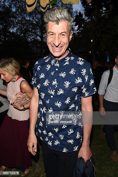 Maurizio Cattelan attends the T The New York Times Style Magazine's Celebration of Salone Internazionale del Mobile at Villa Necchi on April 13 2015...