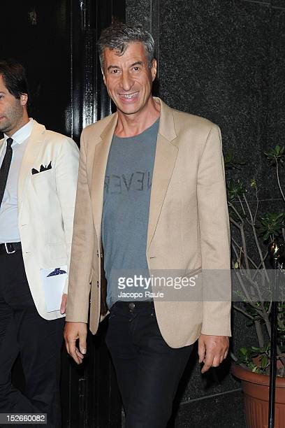 Maurizio Cattelan attends W Magazine Dance Party during Milan Fashion Week Womenswear S/S 2013 on September 23 2012 in Milan Italy