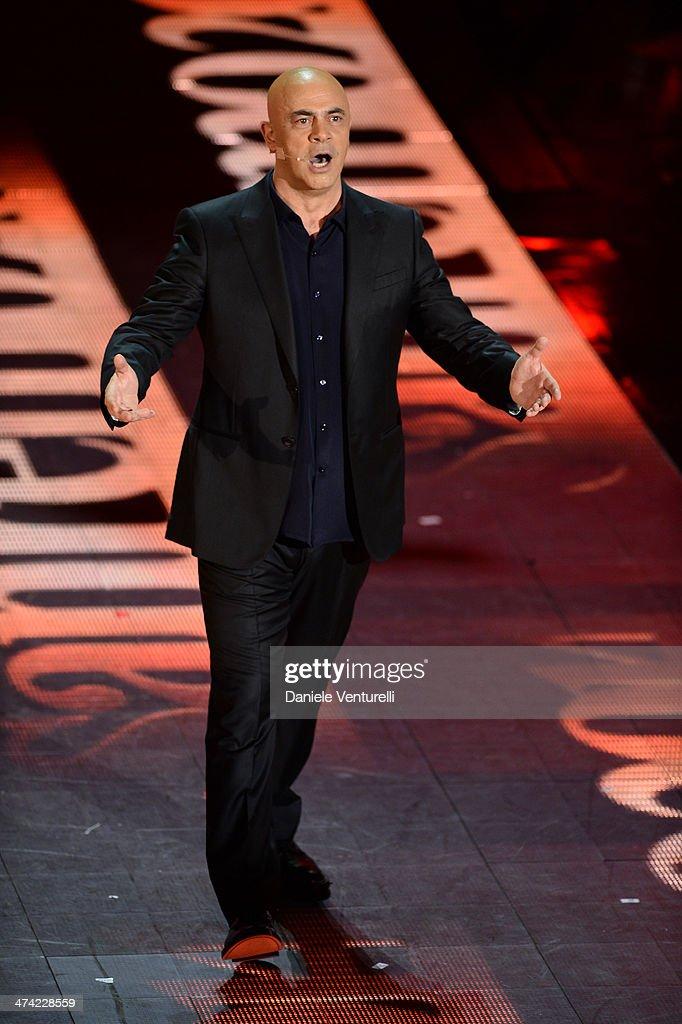 Maurizio Crozza attends closing night of the 64th Festival di Sanremo 2014 at Teatro Ariston on February 22, 2014 in Sanremo, Italy.