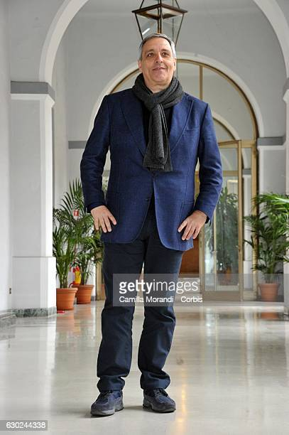 Maurizio De Giovanni attends a photocall for 'Bastardi Di Pizzofalcone' Tv Series Photocall on December 19 2016 in Rome Italy