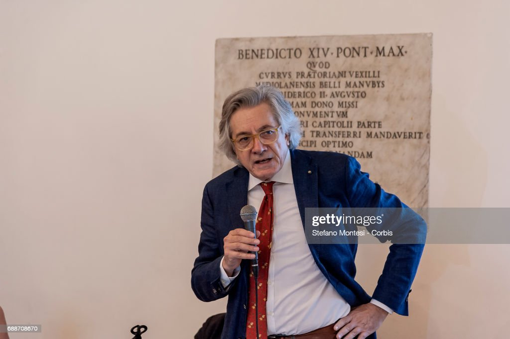 Maurizio Fiasco, Chairman of Alea, Association for the Study of Gambling and Risk Behaviors, and consultant to the National Council Anti-wear during press conference on 'Institutional Politics on Industrial Gambling'. Gambling moves in Italy a turnover of 10.5 billion euros, is a source of revenue for the government on May 26, 2017 in Rome,Italy.