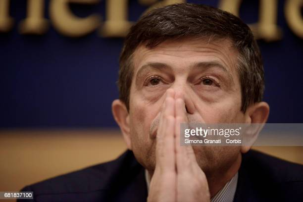 Maurizio Lupi President of Deputies of the Alternativa Popolare Party speaks at a press conference to confirm the launch of the 'Bonus Mamma' scheme...