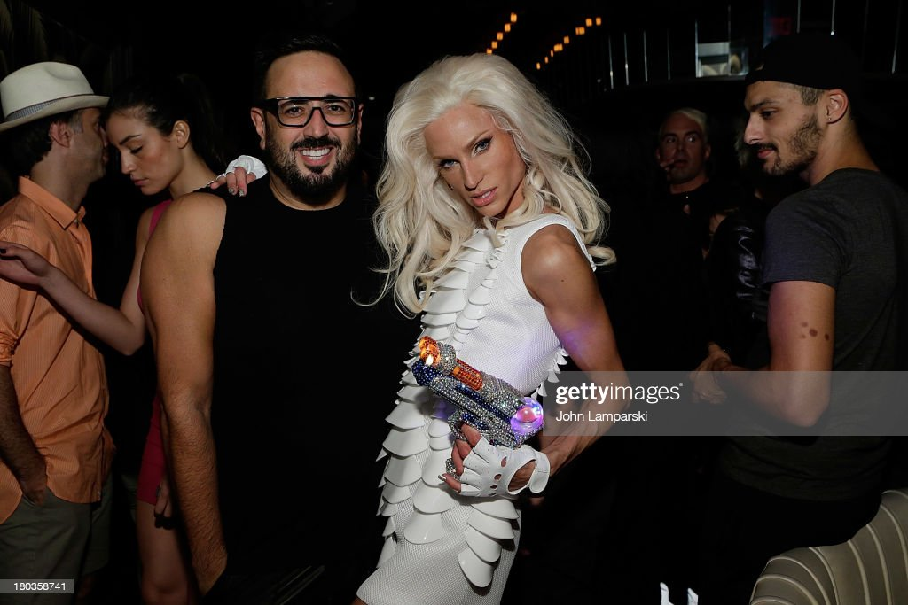 Maurizio Mao and Designer Phillip Blond attends The Blonds Mercedes-Benz Fashion Week Spring 2014 After Party at No. 8 on September 11, 2013 in New York City.