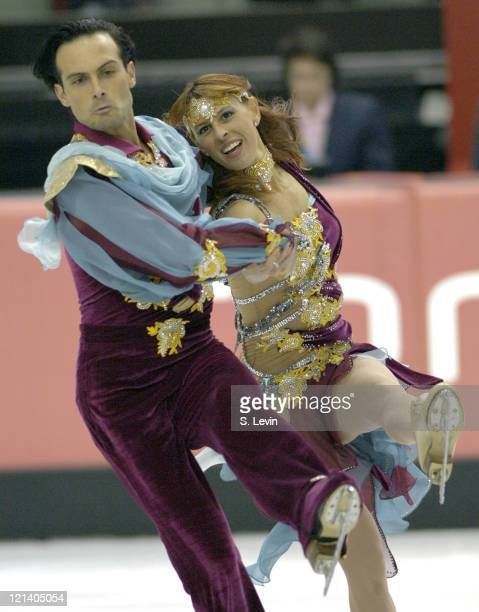 Maurizio Margaglio and Barbara Fusar Poli of Italy during the Ice Dancing Free Skate Program at the 2006 Olympic Games at the Palavela in Torino...