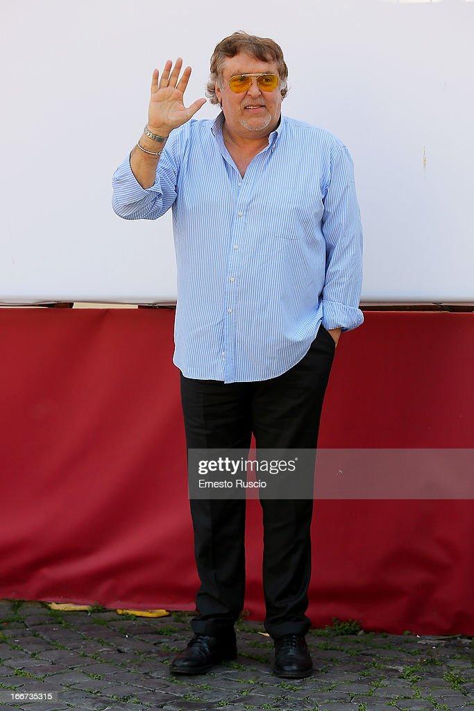 Maurizio Mattioli attends the 'Sono Un Pirata, Sono Un Signore' photocall at Cinema Barberini on April 16, 2013 in Rome, Italy.