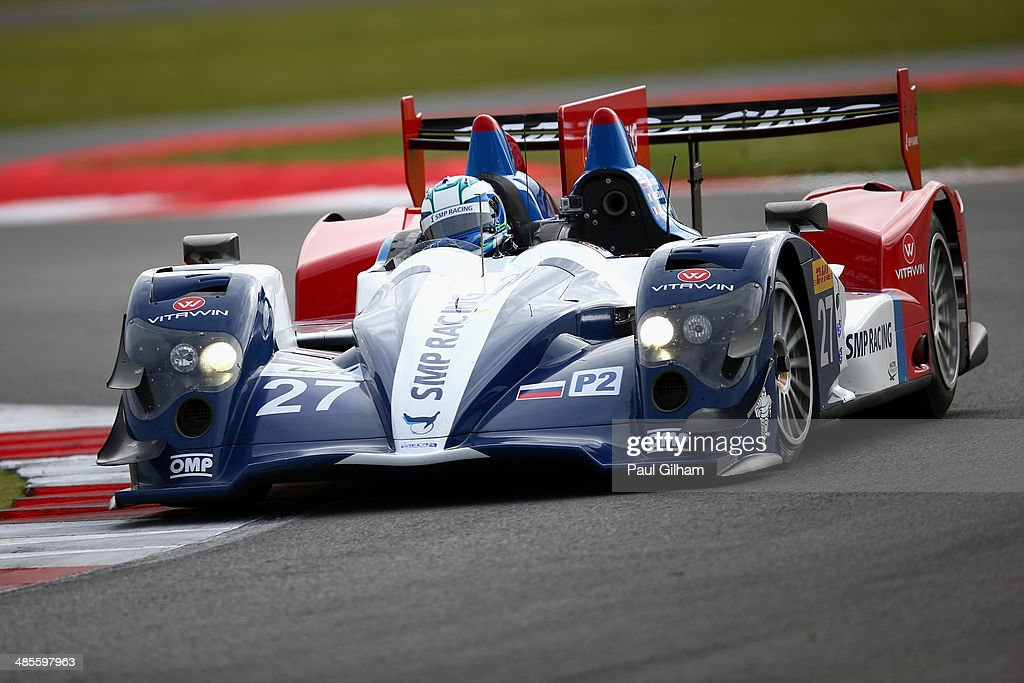 Maurizio Medani of Italy drives the #27 SMP Racing Oreca 03 Nissan LMP2 during qualifying for the FIA World Endurance Championship 6 Hours of Silverstone sportscar race at the Silverstone Circuit on April 19, 2014 in Northampton, England.