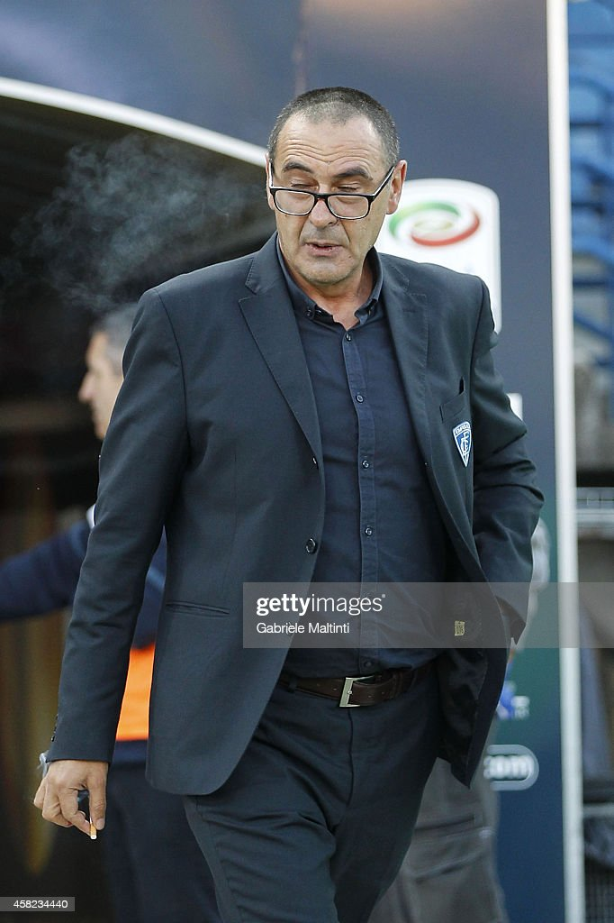 Maurizio Sarri head coach of Empoli FC looks during the Serie A match between Empoli FC and Juventus FC at Stadio Carlo Castellani on November 1, 2014 in Empoli, Italy.