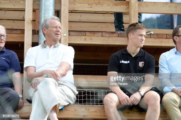 Maurizio Zamparini president of US Citta di Palermo and new player Murawski Radoslaw during the PreSeason Friendly match bewteen US Citta di Palermo...