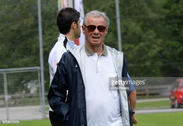 Maurizio Zamparini President of US Citta di Palermo looks on during US Citta di Palermo Training Session at Sport Arena on July 22 2017 in Bad...