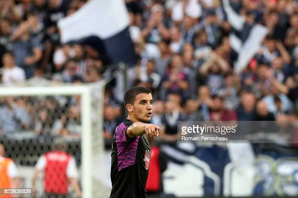 Mauro Arambarri of Bordeaux gestures the UEFA Europa League qualifying match between Bordeaux and Videoton at Stade Matmut Atlantique on July 27 2017...