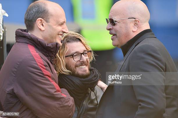 Mauro Baldissoni Federico Balzaretti Alex Zecca during the Italian Serie A football match AS Roma vs SSC Napoli at the Olympic Stadium in Rome on...