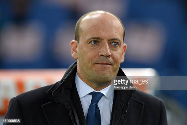 Mauro Baldissoni General Manager of AS Roma before the Serie A match between AS Roma and Juventus FC at Stadio Olimpico on March 2 2015 in Rome Italy