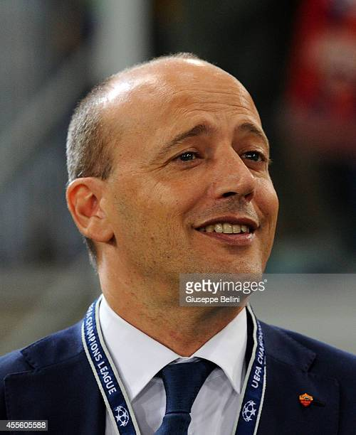 Mauro Baldissoni General Manager of Roma before the UEFA Champions League Group E match between AS Roma and PFC CSKA Moskva on September 17 2014 in...