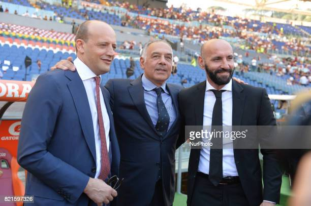 Mauro Baldissoni Monchi James Pallotta during the Italian Serie A football match between AS Roma and FC Genoa at the Olympic Stadium in Rome on may...