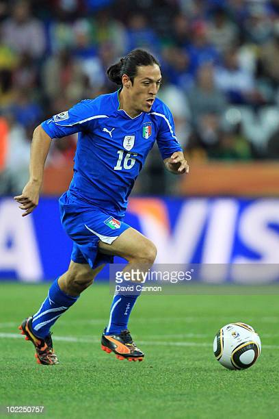 Mauro Camoranesi of Italy in action during the 2010 FIFA World Cup South Africa Group F match between Italy and New Zealand at the Mbombela Stadium...