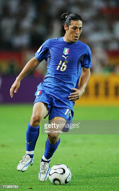 Mauro Camoranesi of Italy in action during the FIFA World Cup Germany 2006 Semifinal match between Germany and Italy played at the Stadium Dortmund...