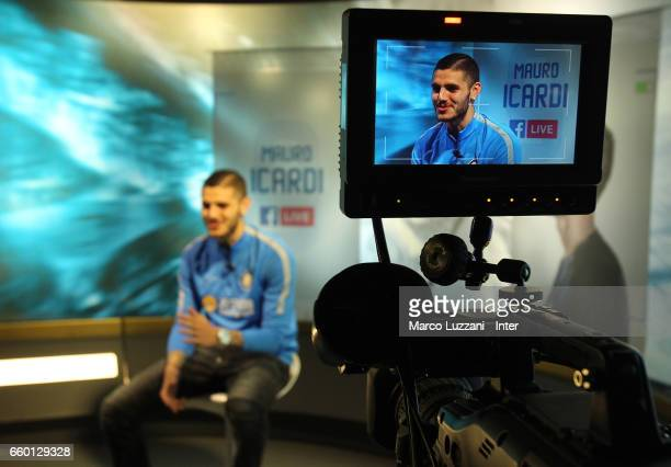 Mauro Emanuel Icardi during Facebook Live at the club's training ground Suning Training Center in memory of Angelo Moratti on March 29 2017 in Como...