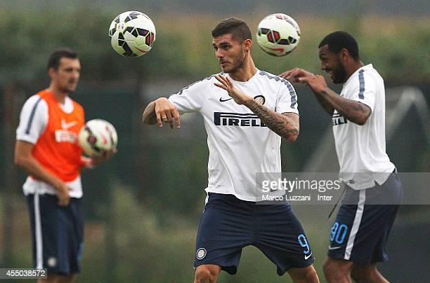 Mauro Emanuel Icardi of FC Internazionale Milano in action during FC Internazionale training session at the club's training ground on September 9...