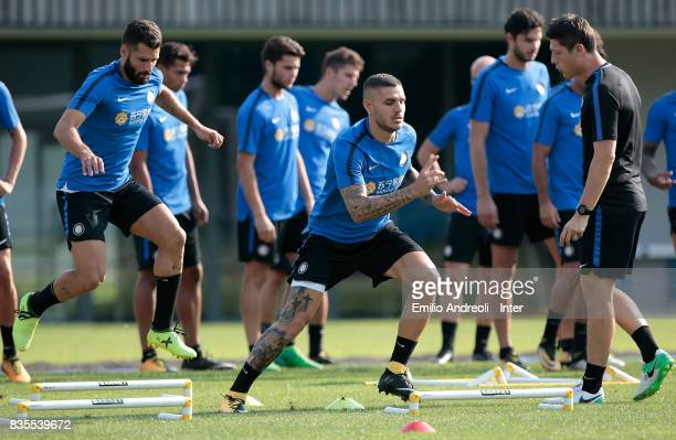 Mauro Emanuel Icardi of FC Internazionale Milano trains during the FC Internazionale training session at the club's training ground Suning Training...