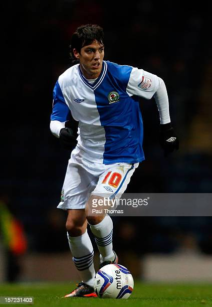Mauro Formica of Blackburn in action during the npower Championship match between Blackburn Rovers and Bolton Wanderers at Ewood Park on November 28...