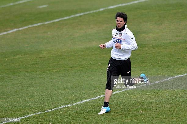 Mauro Formica of Palermo in action during a Palermo training session at Tenente Carmelo Onorato Sports Center on March 27 2013 in Palermo Italy