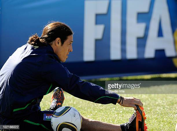 Mauro German Camoranesi of Italy during an Italy 2010 FIFA World Cup training session on June 17 2010 in Centurion South Africa