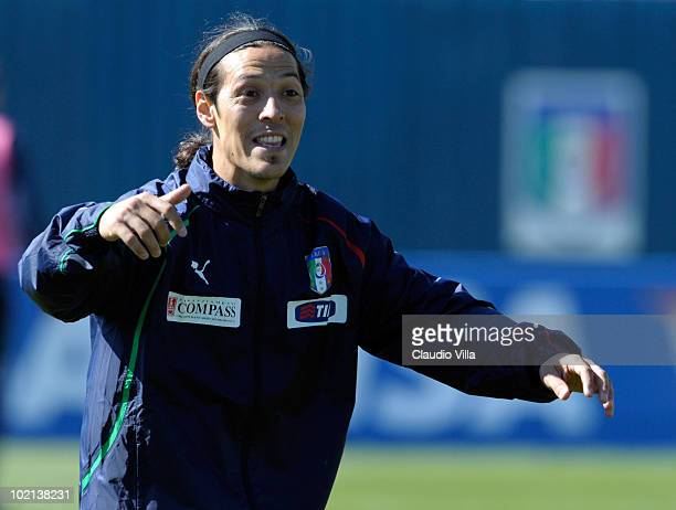 Mauro German Camoranesi of Italy during the Italy Training 2010 FIFA World Cup on June 16 2010 in Centurion South Africa