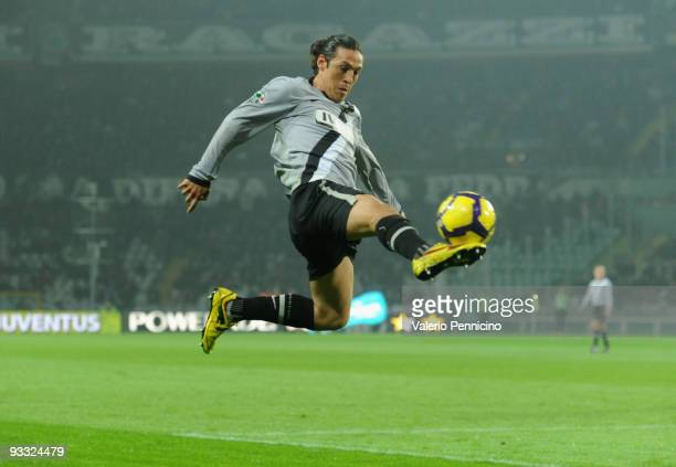 Mauro German Camoranesi of Juventus FC in action during the Serie A match between Juventus and Udinese at Stadio Olimpico di Torino on November 22...