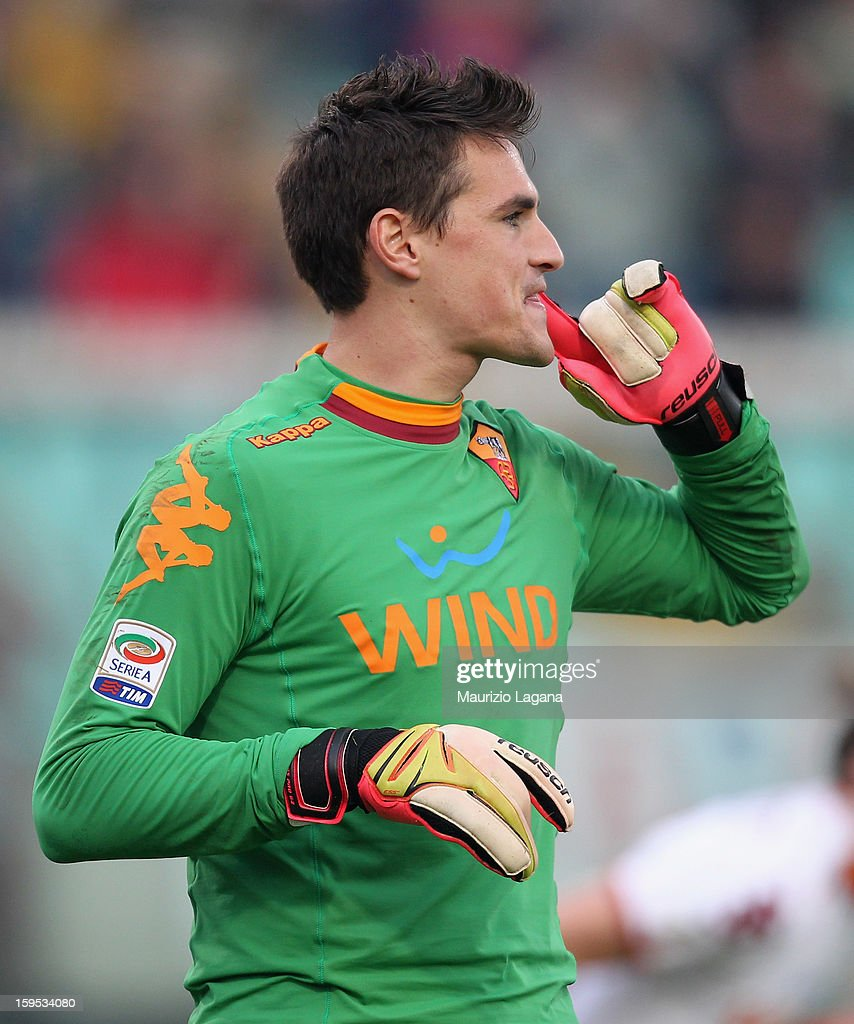Mauro Goicoechea of Roma during the Serie A match between Calcio Catania and AS Roma at Stadio Angelo Massimino on January 13, 2013 in Catania, Italy.