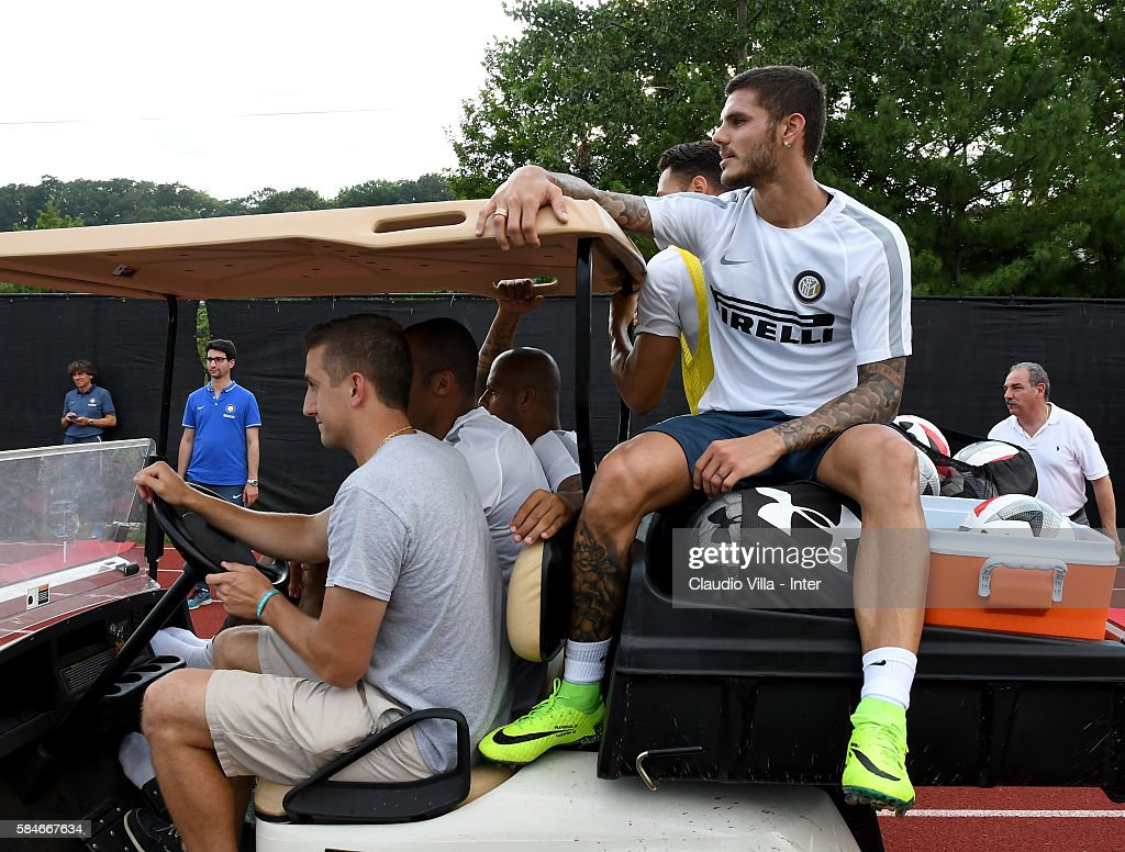 Mauro Icardi looks on after the FC Internazionale training session at Montclair State University on July 29 2016 in Montclair United States