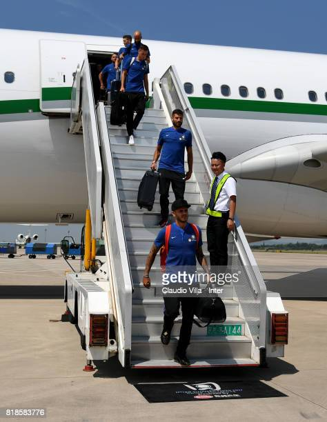 Mauro Icardi of FC Internazionale arrives at Nanjing International Airport on July 19 2017 in Nanjing China