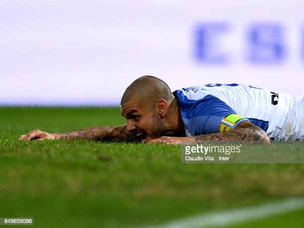 Mauro Icardi of FC Internazionale dejected during the Serie A match between Bologna FC and FC Internazionale at Stadio Renato Dall'Ara on September...