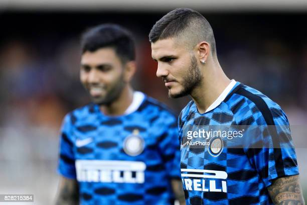 Mauro Icardi of FC Internazionale during training session before the PreSeason 2017/2018 International Friendly FC Internazionale v Villareal CF at...