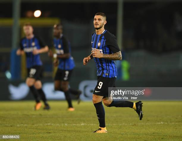 Mauro Icardi of FC Internazionale in action during the PreSeason Friendly match between FC Internazionale and Villareal CF at Stadio Riviera delle...
