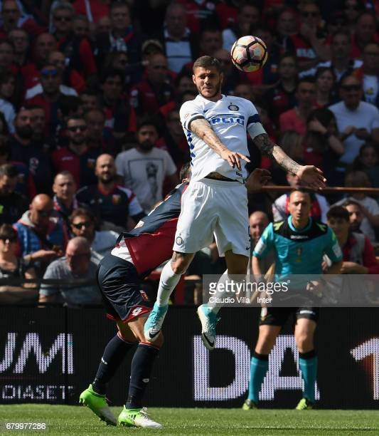 Mauro Icardi of FC Internazionale in action during the Serie A match between Genoa CFC and FC Internazionale at Stadio Luigi Ferraris on May 7 2017...
