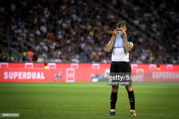 Mauro Icardi of FC Internazionale looks dejected during the Serie A football match between FC Internazionale and ACF Fiorentina FC Internazionale...