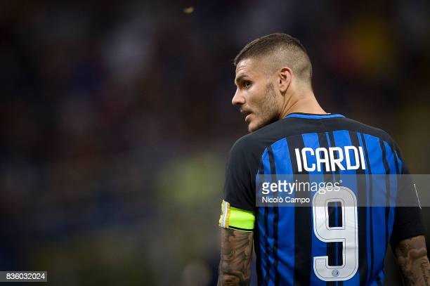 Mauro Icardi of FC Internazionale looks on during the Serie A football match between FC Internazionale and ACF Fiorentina FC Internazionale wins 30...
