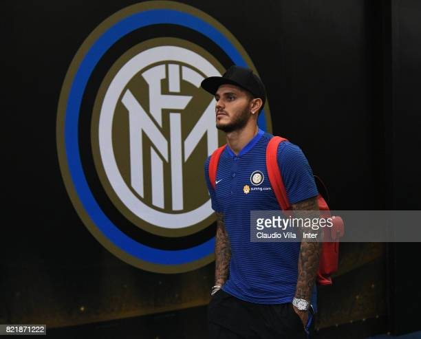 Mauro Icardi of FC Internazionale looks on prior to the 2017 International Champions Cup match between FC Internazionale and Olympique Lyonnais at...