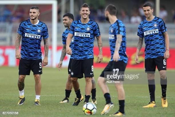 Mauro Icardi of FC Internazionale Matias Vecino of FC Internazionale during the PreSeason 2017/2018 International Friendly FC Internazionale v...