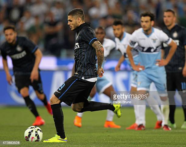 Mauro Icardi of FC Internazionale Milano misses the penalty during the Serie A match between SS Lazio and FC Internazionale Milano at Stadio Olimpico...