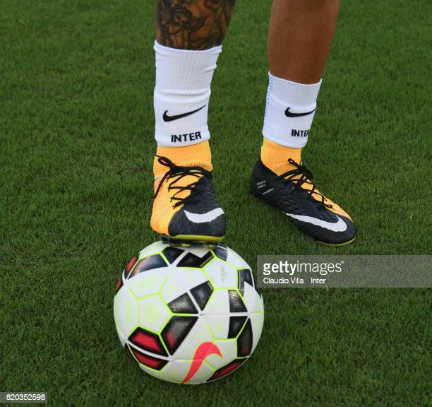 Mauro Icardi of FC Internazionale prior to the preseason friendly match between FC Internazionale and FC Schalke 04 at Olympic Stadium on July 21...